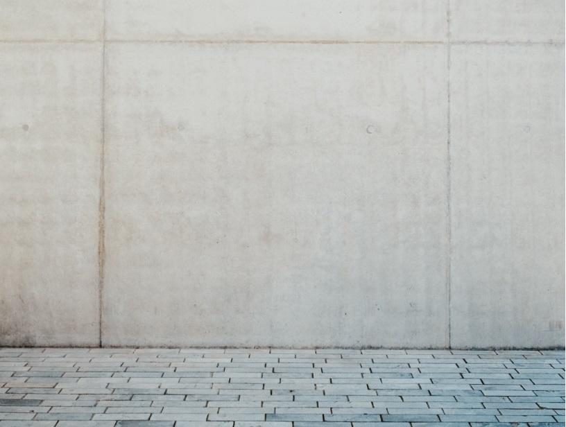 schone muur van beton